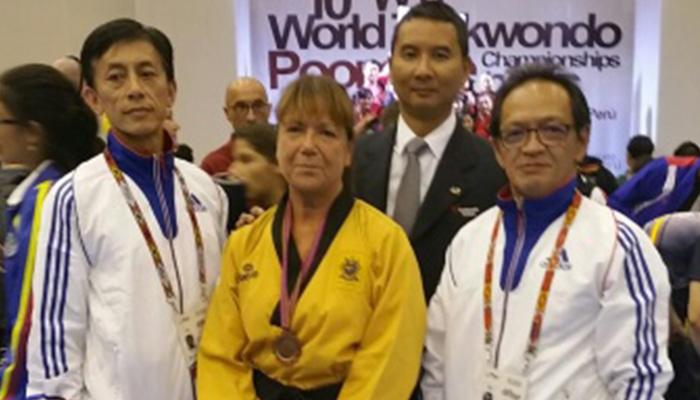 Monde Poomsé : 2ème médaille en bronze pour Marie-France DAVID (-65 ans)