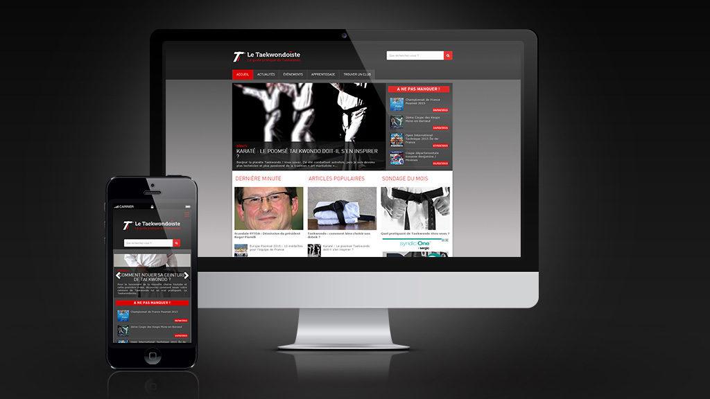 Création du site internet Taekwondoïste
